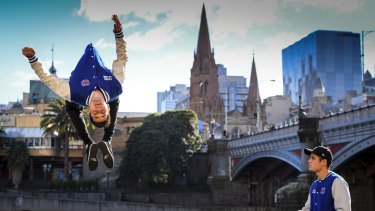 Twins Brodie and Dylan Pawson star in Channel 9's Ninja Warrior.