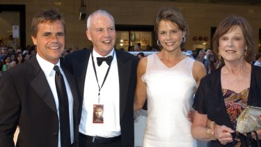 He was a regular on red carpets, pictured here in 2003 with Antony, Antonia and Janelle Kidman at the Australian premiere of Cold Mountain, which starred Nicole Kidman.