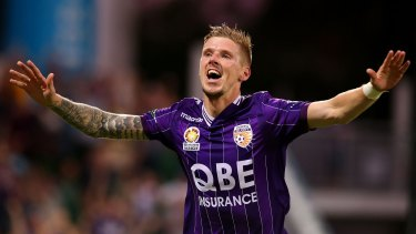 Centre of investigation: Perth Glory player Andy Keogh.
