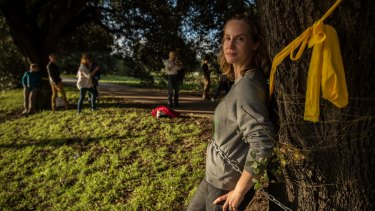 Louise Boronyak-Vasco is determined to protect the trees from the scheduled chop.