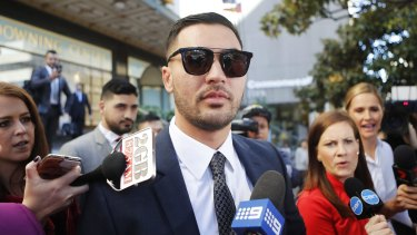 Salim Mehajer leaves Downing Centre Local Court on Wednesday.