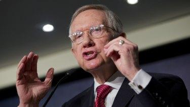 On the attack: Senate Minority Leader Harry Reid.