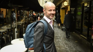 Hot-desker Craig Gorin likes to have a slim line bag he can put at his feet.