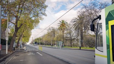 New trams stops on Toorak Road will be built as part of the Metro rail project.