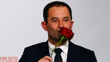 Benoit Hamom will be the Socialist Party candidate in France's presidential election.
