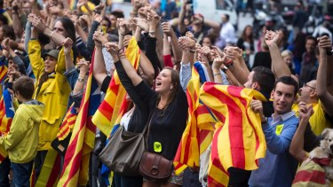 Catalonian national day, 2013. Since 2010, support for independence has grown significantly.