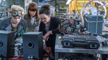 Gadget girls: Holtzmann (Kate McKinnon), Erin (Kristen Wiig) and Abby (Melissa McCarthy) at the Paranormal Studies Lab.