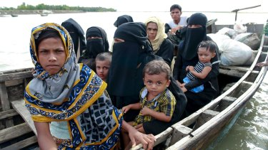 Three boats carrying ethnic Rohingya fleeing violence in Myanmar capsized on the way to Bangladesh on Thursday killing 26 women and children.