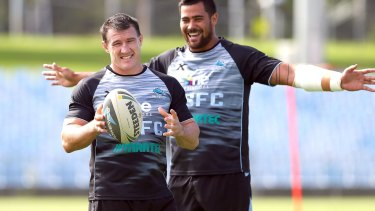 One in, one out: Paul Gallen will not back up from Origin but Andrew Fifita will be in action for the Sharks.