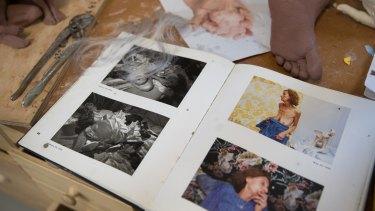 Images and casts inside Sam Jinks' Coburg studio.