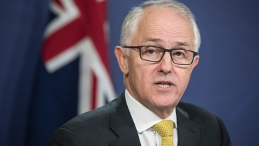 Prime Minister Malcolm Turnbull announces the reshuffle in Sydney.