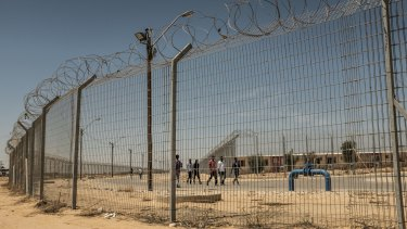 """Holot, in Israel's southern Negev desert, is an """"open prison"""" where inmates can go out but need to be back before 10pm in order not to be transferred to a closed prison."""