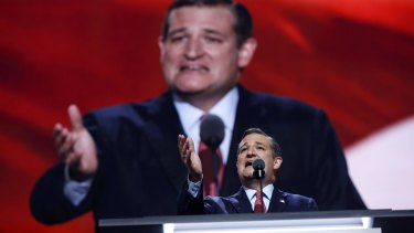 Senator Ted Cruz addresses the delegates at the Republican National Convention in Cleveland on Wednesday.