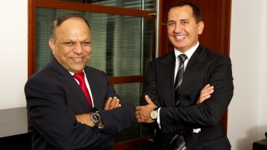 Keen on tech: St George CEO George Frazis (right) with CIO Dhiren Kulkarni.