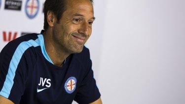 Upbeat: Melbourne City boss John van 't Schip