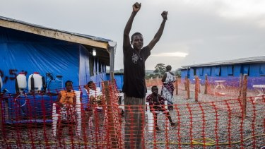Liberian Ebola survivor George Beyan jubilant in October after learning his most recent blood test for the disease was negative.