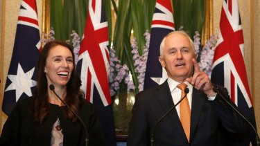New Zealand Prime Minister Jacinda Ardern and Australian PM Malcolm Turnbull earlier this month.