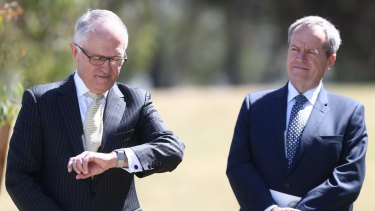 Time out ... Prime Minister Malcolm Turnbull and Opposition Leader Bill Shorten.