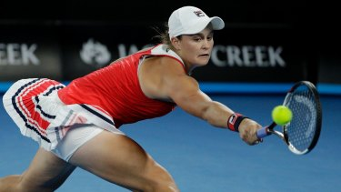 Ashleigh Barty was pushed to three sets by  Aryna Sabalenka.
