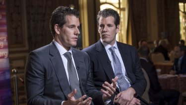 Cameron, left, and Tyler Winklevoss are believed to be the world's first bitcoin billionaires.
