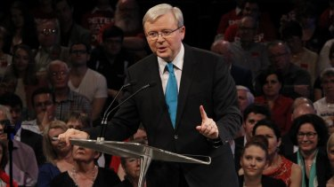 Former prime minister Kevin Rudd has been praised as a 'big picture man' by Lord Nicholas Stern.