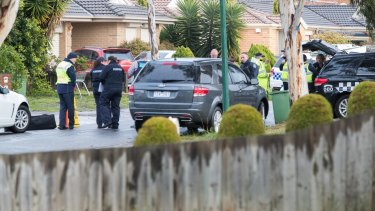 Neighbours heard a helicopter overhead as police raided the house.