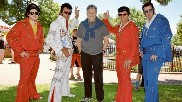 Steve Binder meets Elvis impersonators in Parkes for the annual festival in memory of the King.