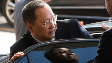 North Korean Foreign Minister Ri Yong-ho was in New York on Wednesday for a meeting of the UN General Assembly.