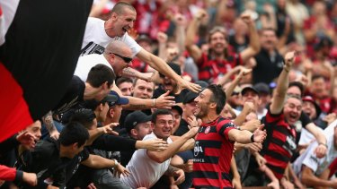 Passionate fan base: The Wanderers fans have been out in force in recent years.