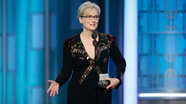 """There was one performance this year that stunned me - it sank its hooks in my heart,"" Meryl Streep said as she accepted the award."
