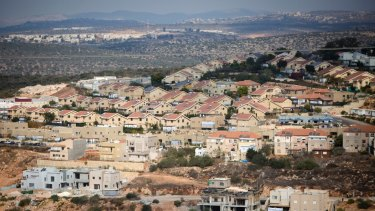 The Israeli settlement of Revava, near the West Bank city of Nablus.