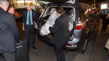 Australian Federal Police removed shredded documents and other evidence during a raid on the Australian Workers Union offices in Sydney.