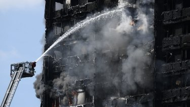 Fire rapidly engulfed the 24-storey Grenfell Tower in London on Wednesday.