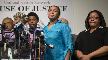 Esaw Garner, Eric Garner's wife, at a press conference in New York last year.