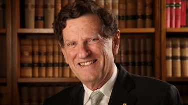 Retiring Chief Justice Robert French in his High Court office in Canberra on Wednesday.