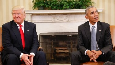 Closer than you may think: Donald Trump and Barack Obama.