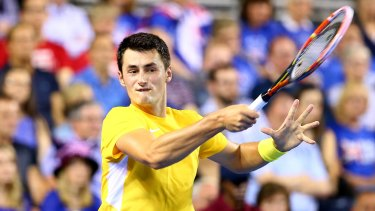 Upset win: Bernard Tomic.