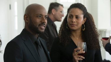 Romany Malco and Christina Moses in A Million Little Things.
