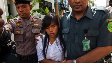 Convicted Filipina drug smuggler Mary-Jane Veloso, who received a last-minute reprieve.