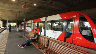 On track: Light rail users will be able to tap on from December 1.
