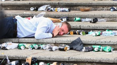 Punters left piles of rubbish behind after celebrating Melbourne Cup day at Flemington.