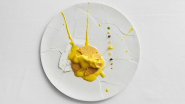 Modena Osteria Francescana's Oops I dropped the lemon tart dish.