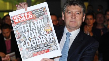 The phone-hacking scandal forced the closure of the <i>News of the World</i> in 2011.