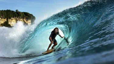 Uluwatu in Bali in 2015. The classic 1972 surf film <i>Morning of the Earth</i>, with its depiction of the mythical wave at Uluwatu, opened the floodgates of surf tourism in Bali.