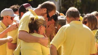 Stephanie Scott's family and fiance gathered for a memorial picnic on what was supposed to be the day of her wedding.