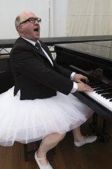 Phil Scott as Senator George Brandis in rehearsal for the <i>Wharf Revue 2015</i>.