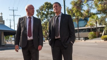 John Clarke and Anthony LaPaglia are real estate agents in <i>A Month of Sundays</i>.