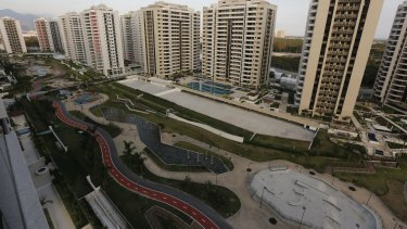 The Olympic Village stands ready in Rio de Janeiro, despite some teething problems.