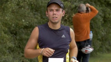 Andreas Lubitz runs the Airportrace half marathon in Hamburg in September 2009.