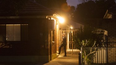 Police searched the Wiley Park home on Tuesday evening, as investigations continue into Hedi Ayoub's death.